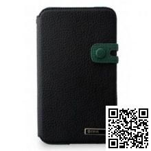 Чехол Zenus для Samsung Galaxy Note GT-N7000 'Masstige' Color Edge Diary (Real Black+Dark Green)