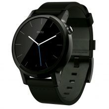 Motorola Moto 360 2nd Generation Leather (Black) 42mm - умные часы для Android