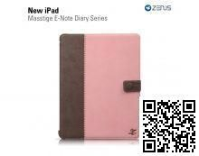 Чехол Zenus для Apple iPad New Masstige E-NOTE Diary Series (Pink)