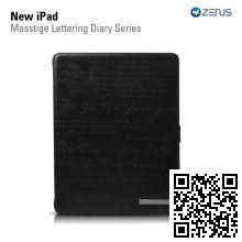 Чехол Zenus для Apple iPad New Masstige Lettering Diary Series (Black)