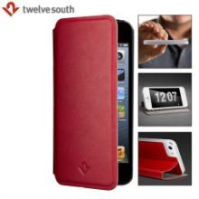 """ехол TwelveSouth SurfacePad for iphone 5 Ultra-Slim Luxury Leather Cover (Red)"