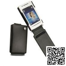 Кожаный чехол Noreve для Sony Ericsson Xperia X8 Tradition leather case (Black)