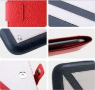 Чехол ZENUS для Galaxy Tab/Tab 2 10.1 Leather Case 'Masstige' Summer Marine Pouch Series (Royal Navy)