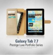 Чехол Zenus для Samsung Galaxy Tab 7.7 Prestige Genuine leather Luxe Portfolio series (Navy)