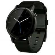 Motorola Moto 360 2nd Generation Leather (Black) 42mm - умные часы дл¤ Android