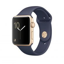 Умные часы Apple Watch Series 1 38mm Gold Aluminum Case with Midnight Blue Sport Band