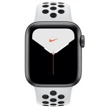 Часы Apple Watch Series 4 GPS + Cellular 44mm Aluminum Case with Nike Sport Band (Pure Platinum/Black)