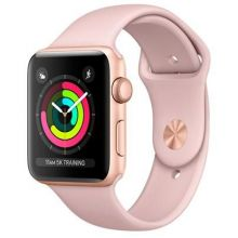 Часы Apple Watch Series 3 Cellular 42mm Aluminum Case with Sport Band (Золотистый/Розовый песок)