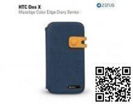 Чехол Zenus для HTC One X Masstige Color Edge Diary Series (Royal Navy)
