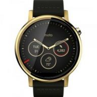 Motorola Moto 360 2nd Generation Leather (Black Gold) 46mm - умные часы для Android