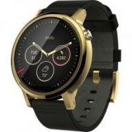 Motorola Moto 360 2nd Generation Leather (Black Gold) 46mm - умные часы дл¤ Android