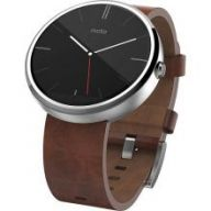 Motorola Moto 360 (Light Metal with Cognac Leather) - умные часы дл¤ Android