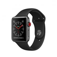 Часы Apple Watch Series 3 Cellular 42mm Aluminum Case with Sport Band (Серый космос/Черный)