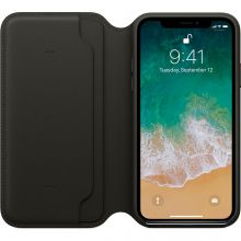 ожаный чехол Apple Folio дл¤ iPhone X (Black)