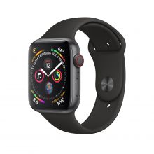 Часы Apple Watch Series 4 GPS + Cellular 44mm Aluminum Case with Sport Band (Серый космос/Черный)