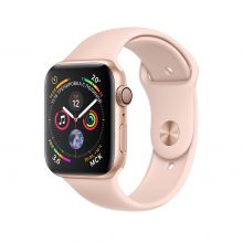 Часы Apple Watch Series 4 GPS + Cellular 40mm Aluminum Case with Sport Band (Золотистый/Розовый песок)