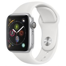 Часы Apple Watch Series 4 GPS 44mm Aluminum Case with Sport Band (Серебристый/Белый)