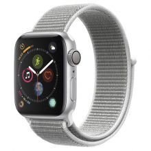 Часы Apple Watch Series 4 GPS 44mm Aluminum Case with Sport Loop (Серебристый/Белая ракушка)