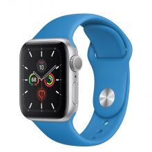 Часы Apple Watch Series 5 GPS 40mm Aluminum Case with Sport Band (Silver/Surf Blue)