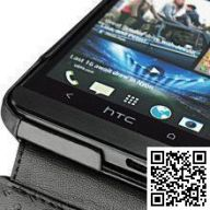 Кожаный чехол Noreve для HTC One Ambition leather case (Ebony black)