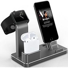Док-станция Olebr для iPhone, AirPods и Apple Watch (Space Grey)