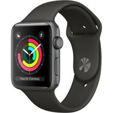 Apple Watch Series 3 38mm Aluminum Case with Sport Band (Space Gray/Gray)