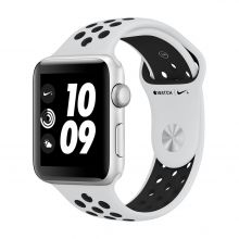 Часы Apple Watch Series 3 42mm Aluminum Case with Nike Sport Band (Серебристый/Чистая платина/Черный)